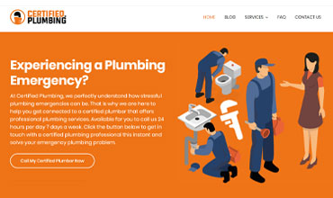 Certified Plumbing Website Design