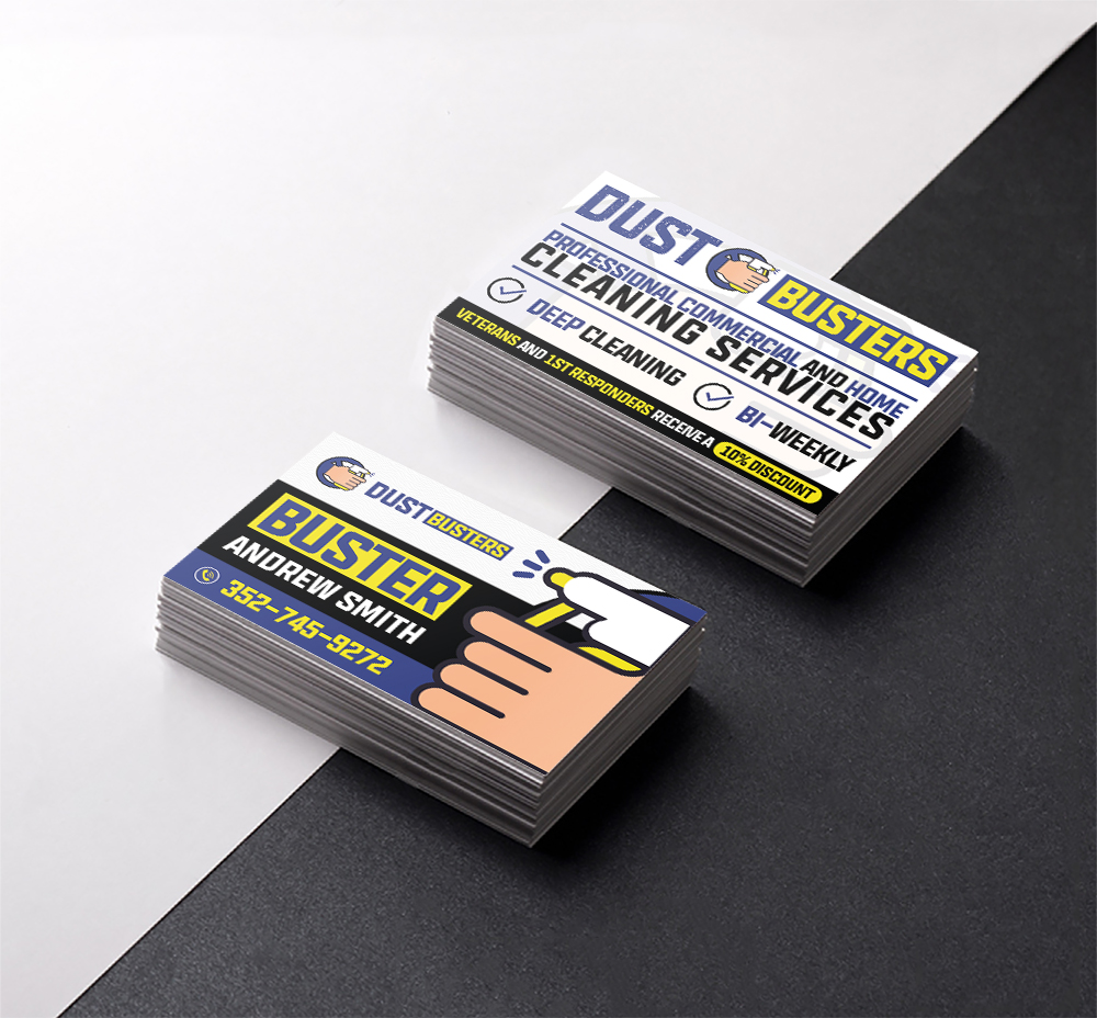 Dust Busters Business Card Design