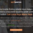 Key Smiths Website Screenshot